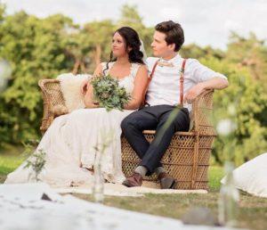 huwelijksbankje animatie bruid bruidegom