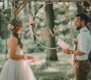 geloften in het bos huwelijk lady hill