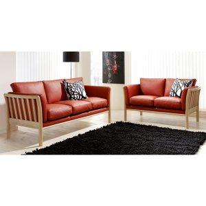 Betina sofa - 2+3 personers lædersofa