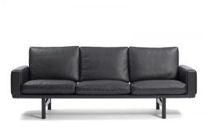 Wegner GE 236 3-personers lædersofa