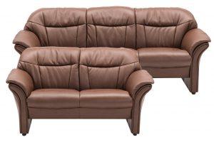 Chicago 2125 3+2 pers. sofa i espressofarvet læder
