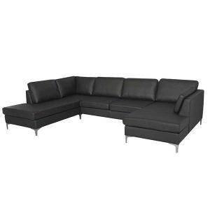 Felix U-sofa - Bonded læder - højrevendt