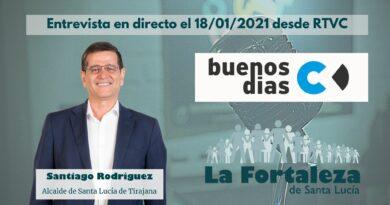 Santiago Rodríguez Alcalde de Santa Lucía de Tirajana en Directo desde Buenos Dias Canarias el 18/01/2021