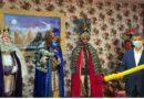 El Alcalde de Santa Lucía de Tirajana , Santiago Rodríguez , hace entrega de la llave mágica a sus Majestades Los Reyes Magos de Oriente.