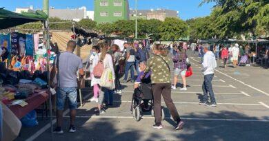 Reapertura del Mercadillo Municipal de Santa Lucía tras el cambio de nivel Covid 19