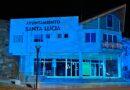 Santa Lucía se ilumina de azul el Día Mundial de Concienciación sobre el Autismo.