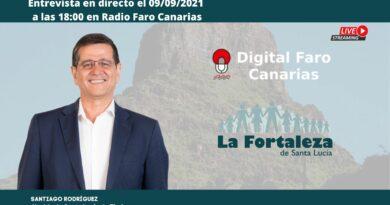 Entrevista el 09 de Septiembre de 2021 en  Radio Faro Canarias a Santiago Rodríguez Hernández, Alcalde de Santa Lucía de Tirajana
