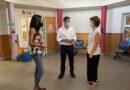 Santiago Rodríguez alcalde de Santa Lucía de Tirajana y la concejala de educación, visitan las escuelas infantiles en el arranque escolar del municipio.