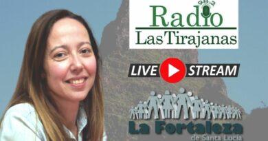 Entrevista el 26 de Octubre de 2021 a las 18:00 en Radio Las Tirajanas, a Ana Mayor Alemán, concejala de Juventud, Turismo, Transparencia y Litoral del Ayto. de Santa Lucía de Tirajana