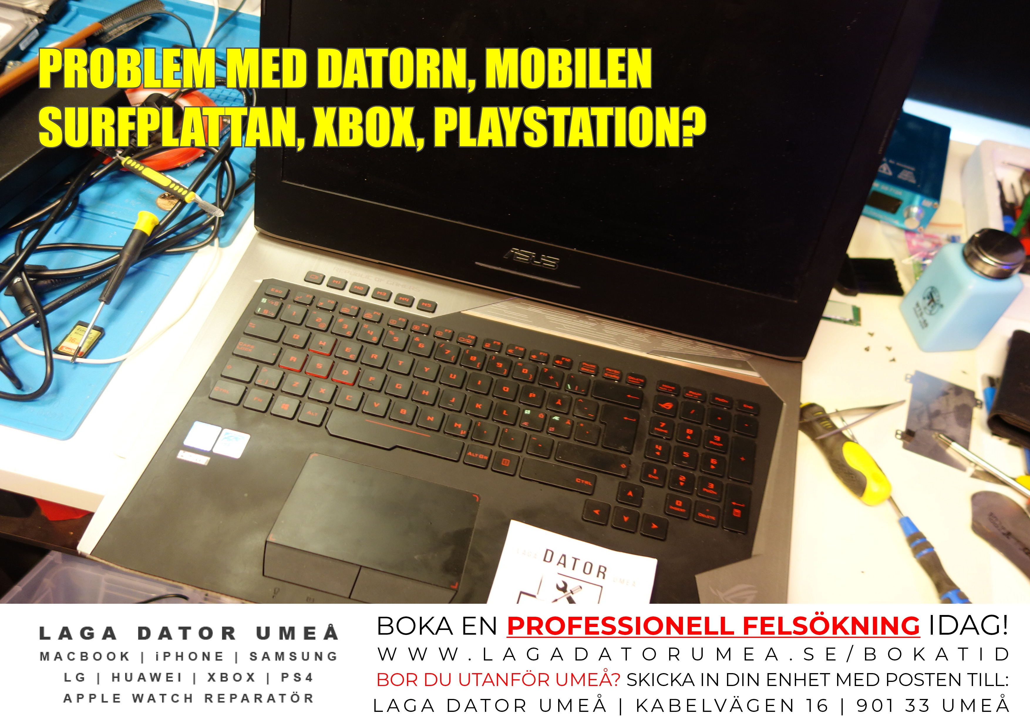 SERVICE GAMIGN DATOR ASUS