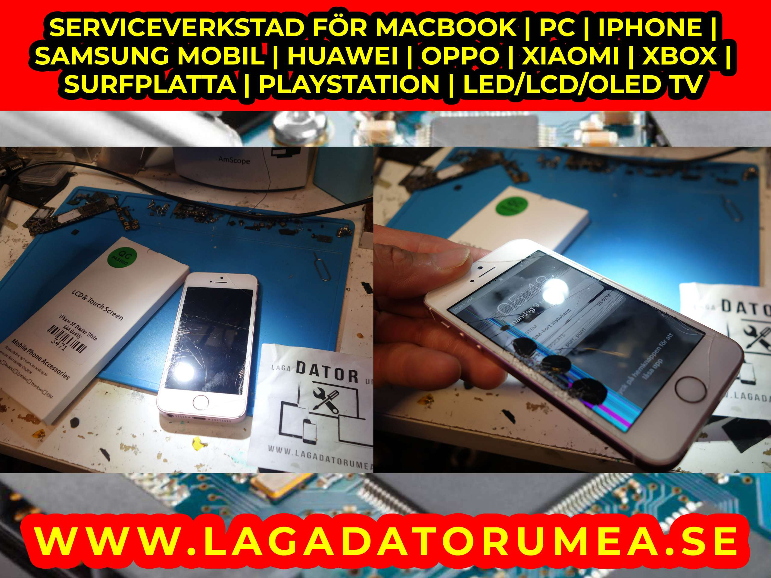 iphone reparation och datorreparation