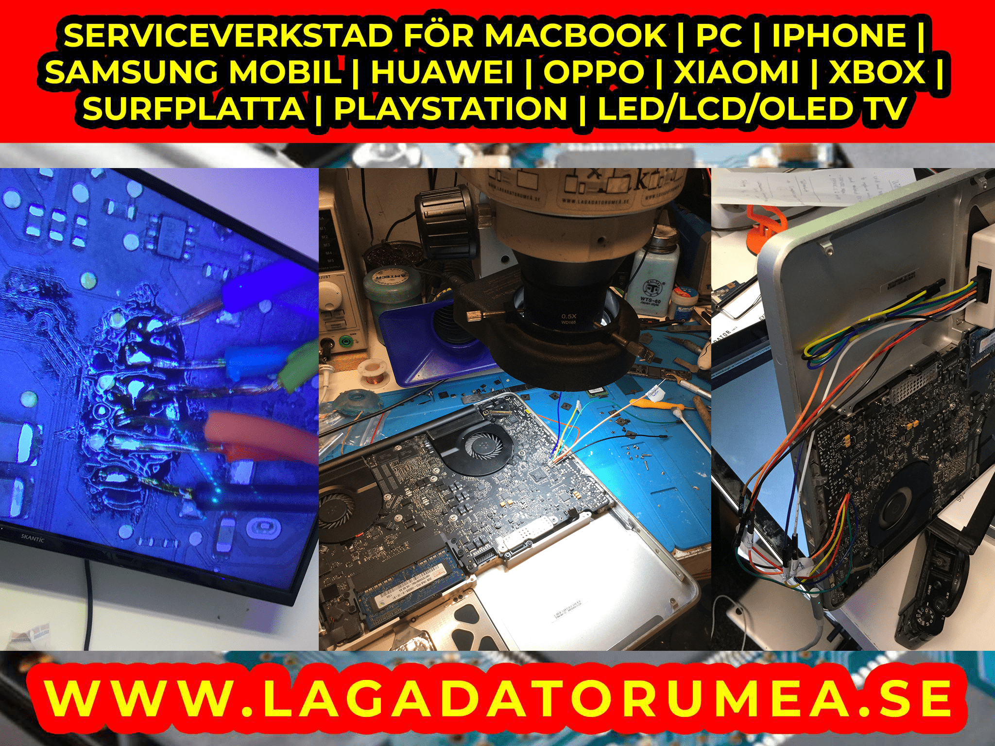 Sega Saturn datorreparation Macbook