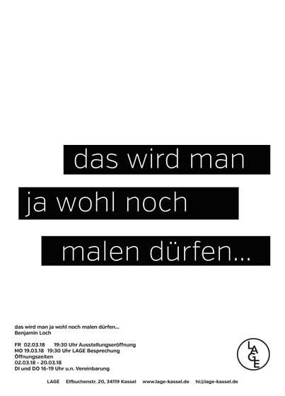 DAS WIRD MAN JA WOHL NOCH MALEN DÜRFEN... - Benjamin Loch
