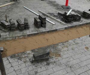 Flisebelægning ved Svendborg Bycenter