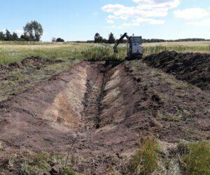 Udgravning af grøft