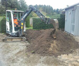 Udgravning til indkørsel