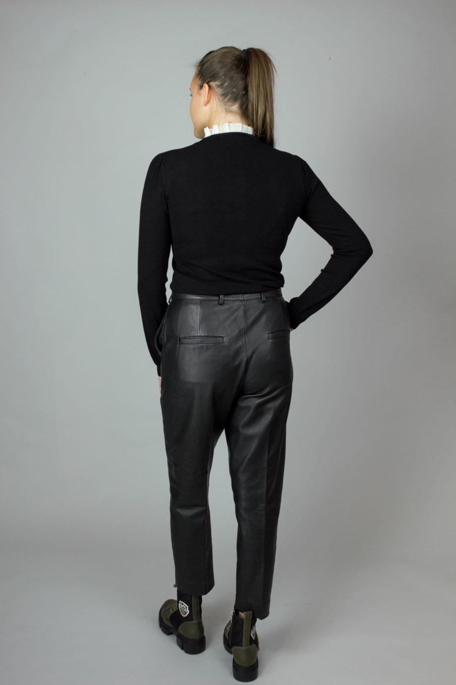 Fench connection black leather pants