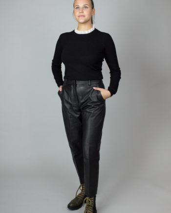 Fench connection black leather pants