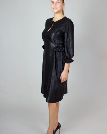 Kristina ti black glitter dress