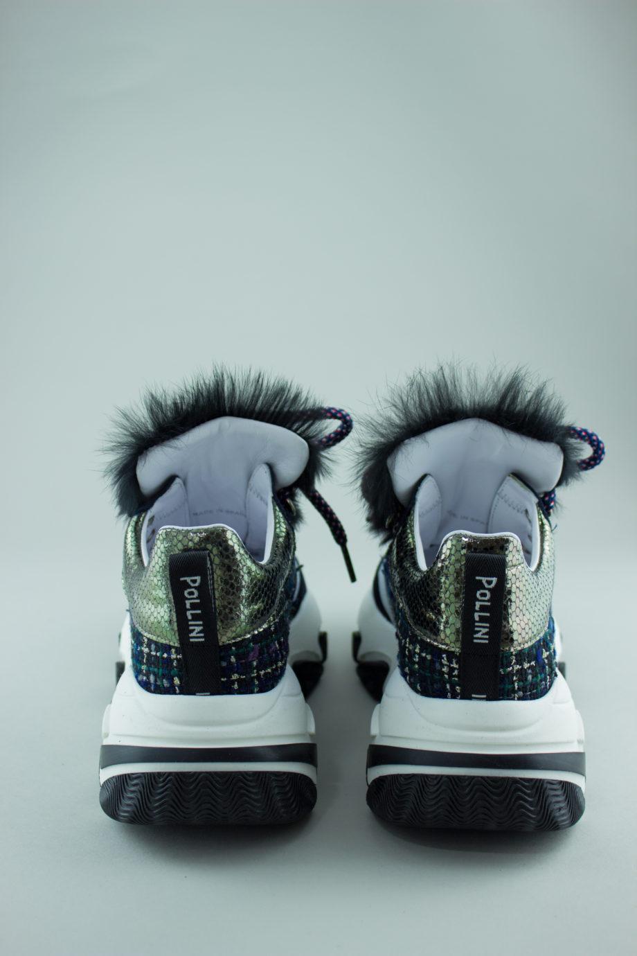 POLLINI fur sneakers
