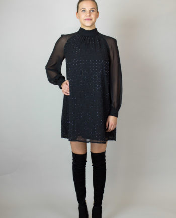 FRENCH CONNECTION Black glitter dress