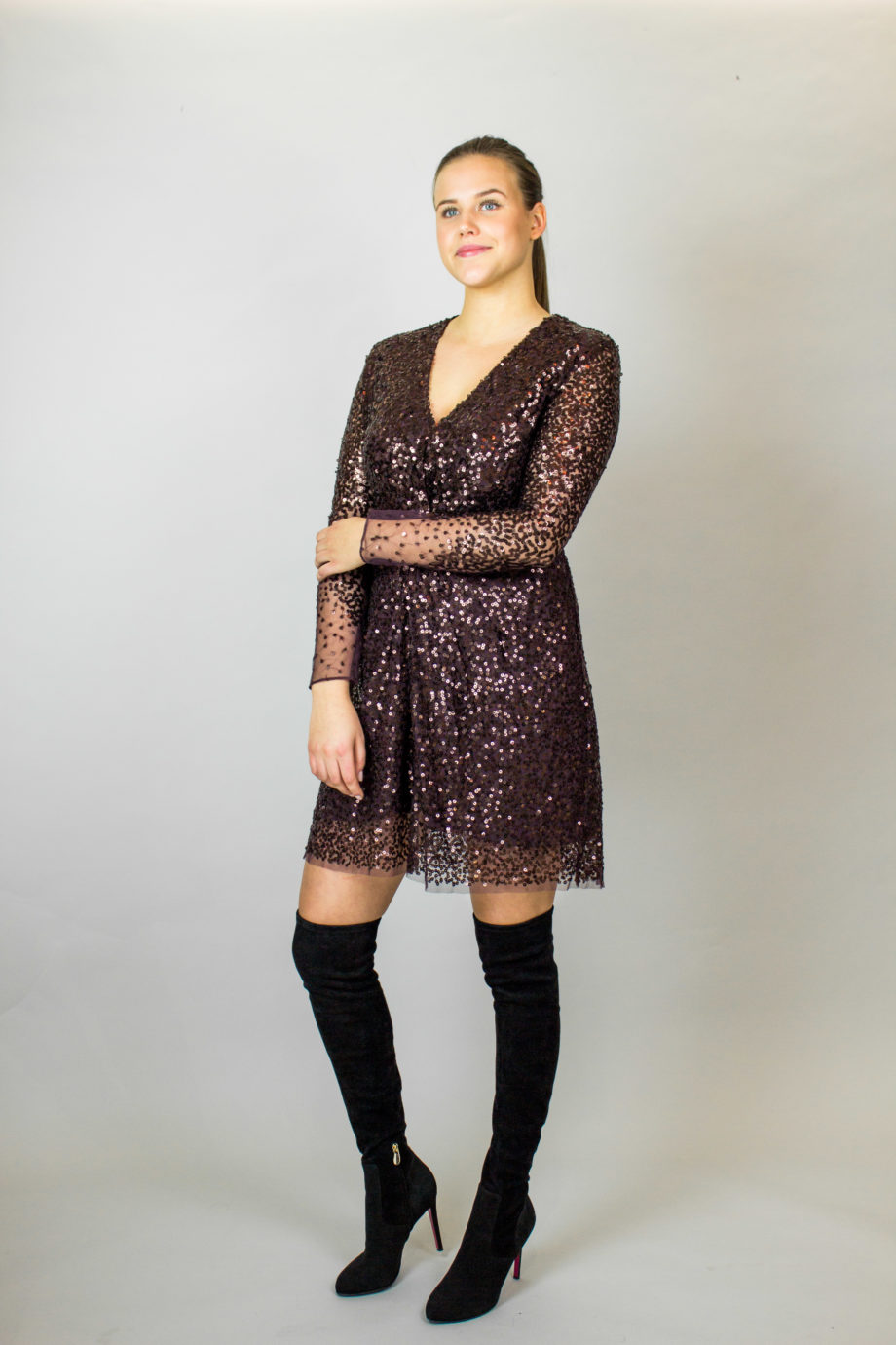 FRENCH CONNECTION Glitter dress