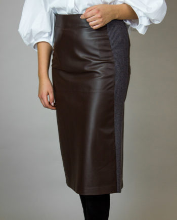 Fabiana Filippi leather skirt