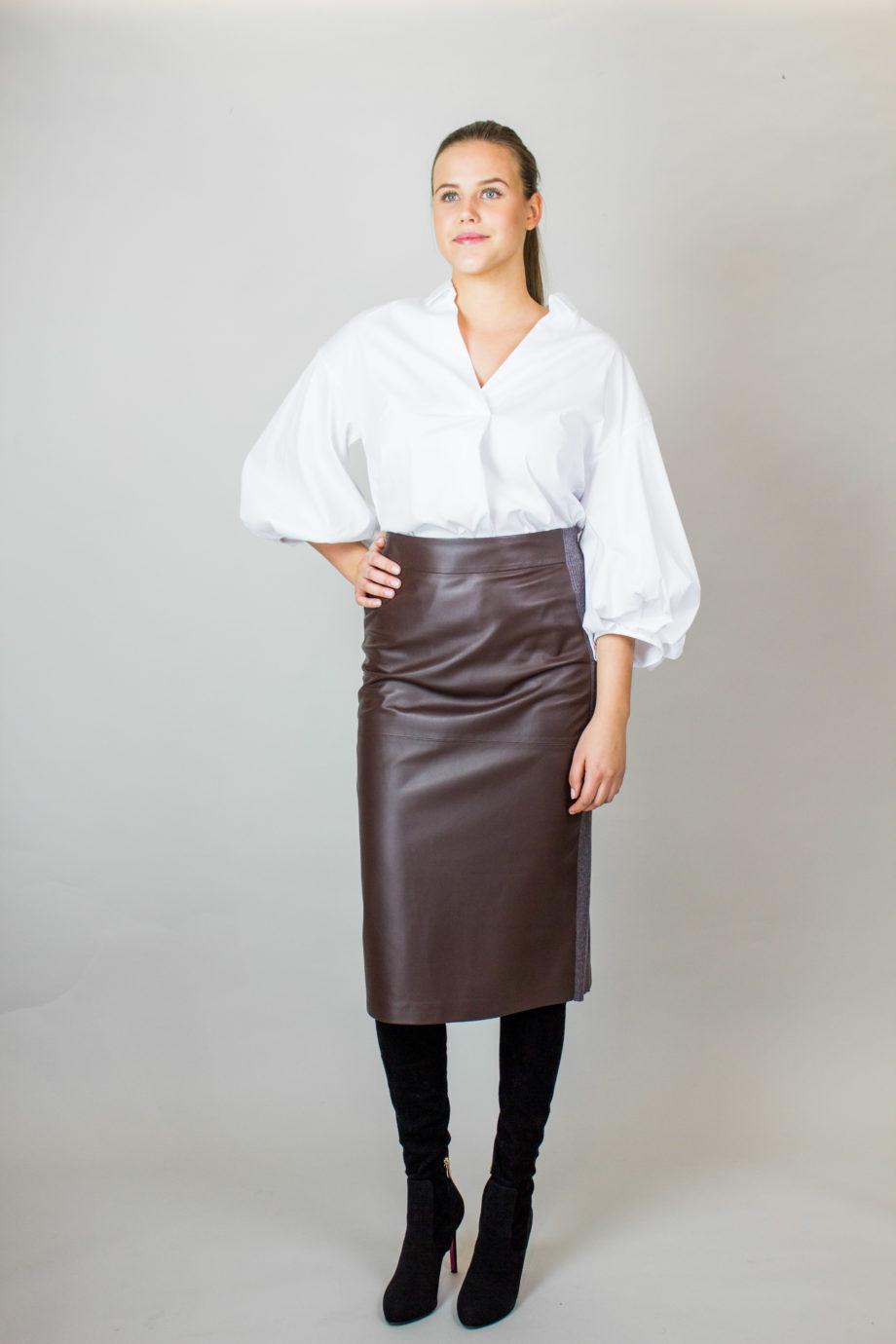 Fabiana Filippi leather skirt
