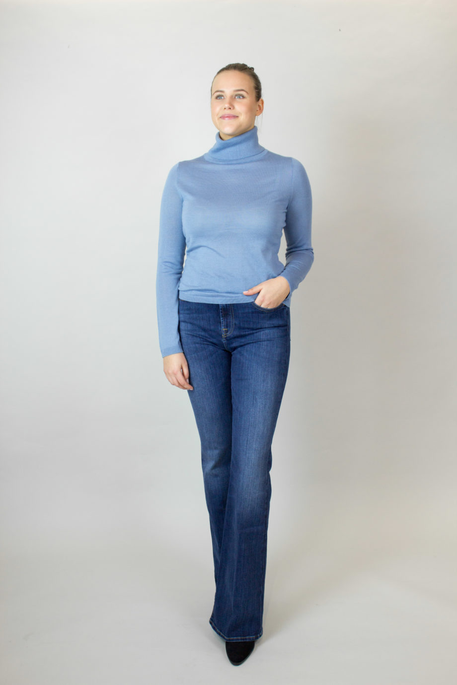 FTC Blue Shadow polo sweater