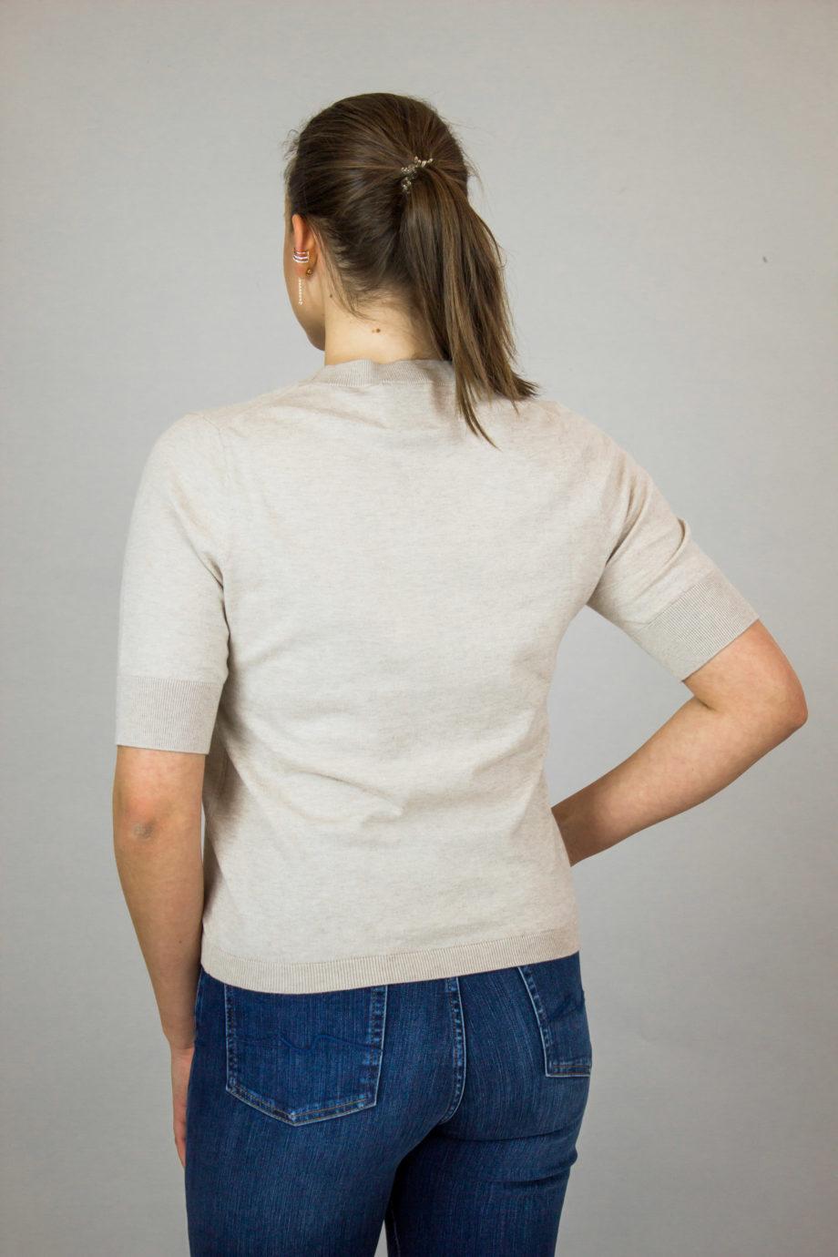 Allude beige cotton sweater