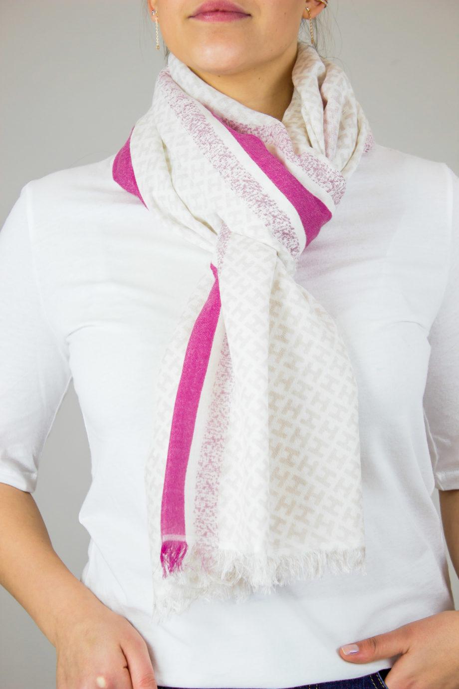 HEMISPHERE H-scarf Nude/pink