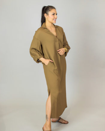 FABIANA FILIPPI Long camel dress