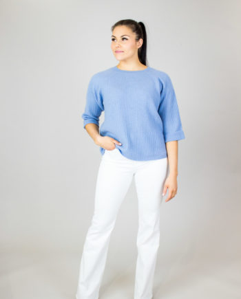 ALLUDE Light blue sweater
