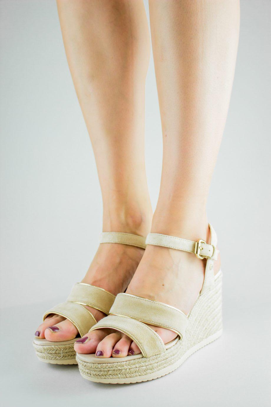 GEOX Beige wedge sandals