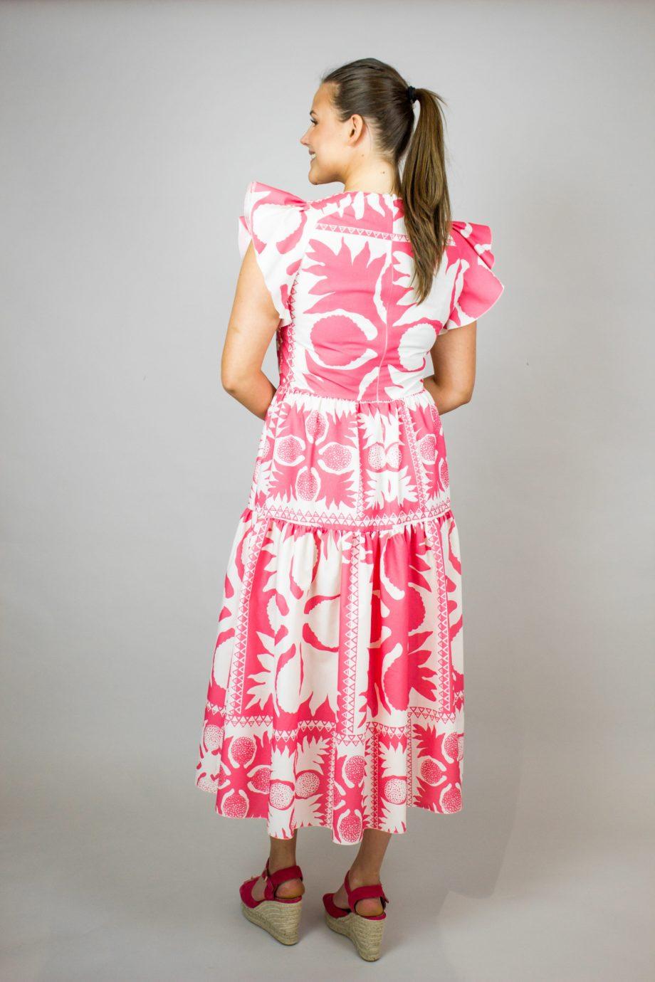 RED VALENTINO Pink print dress
