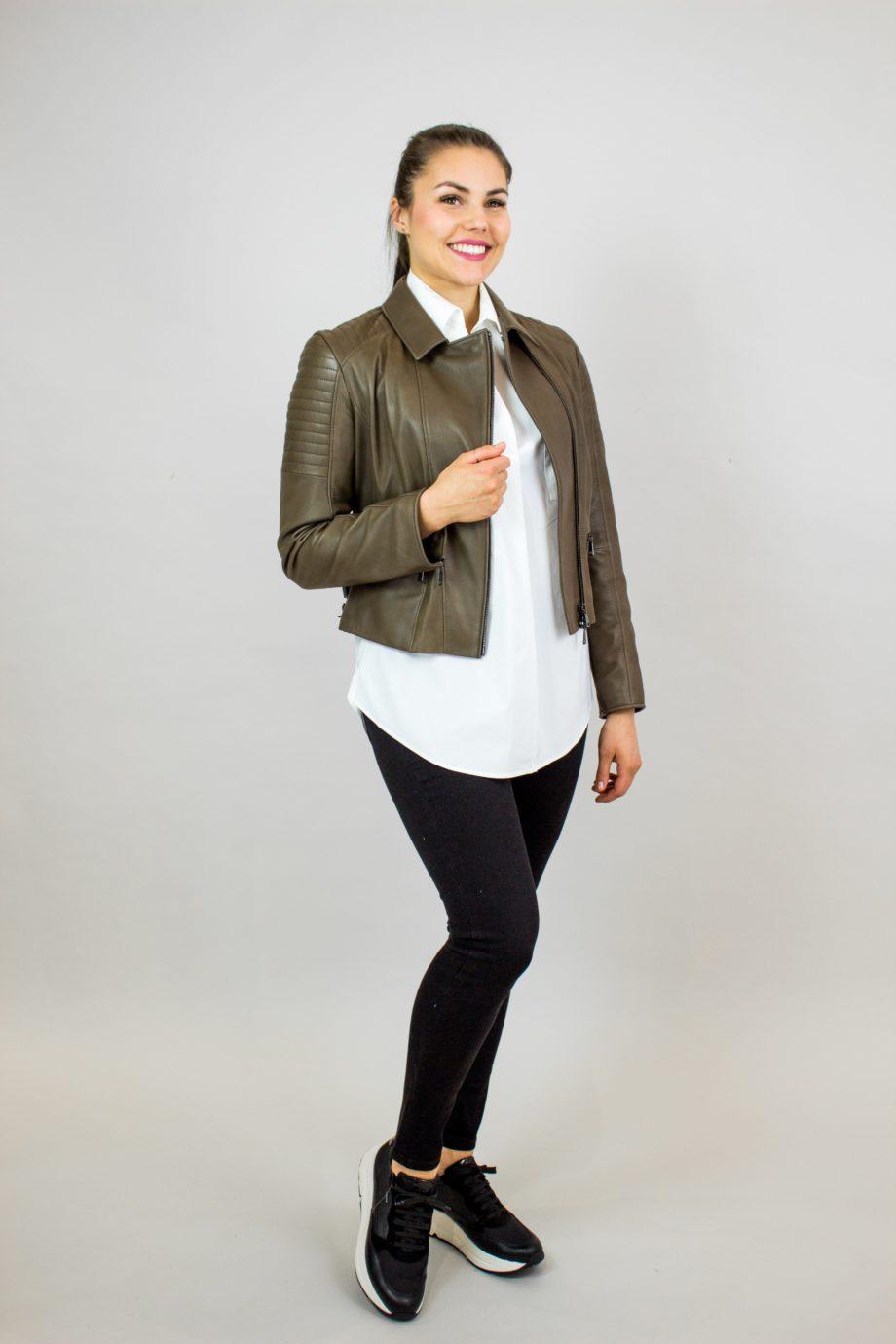 29. WERNER CHRIST Black leather jacket
