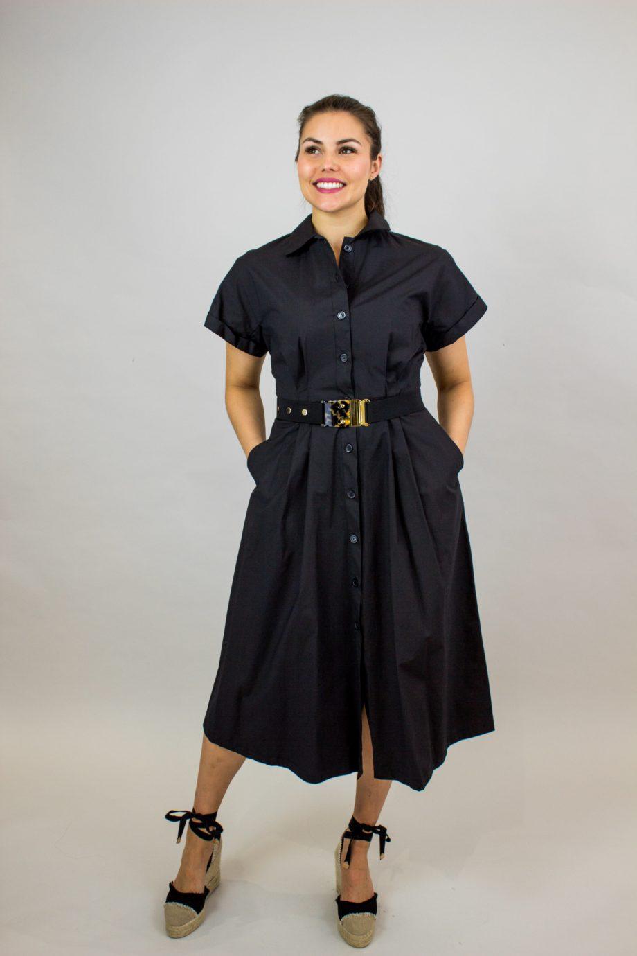 SEVENTY Black shirt dress