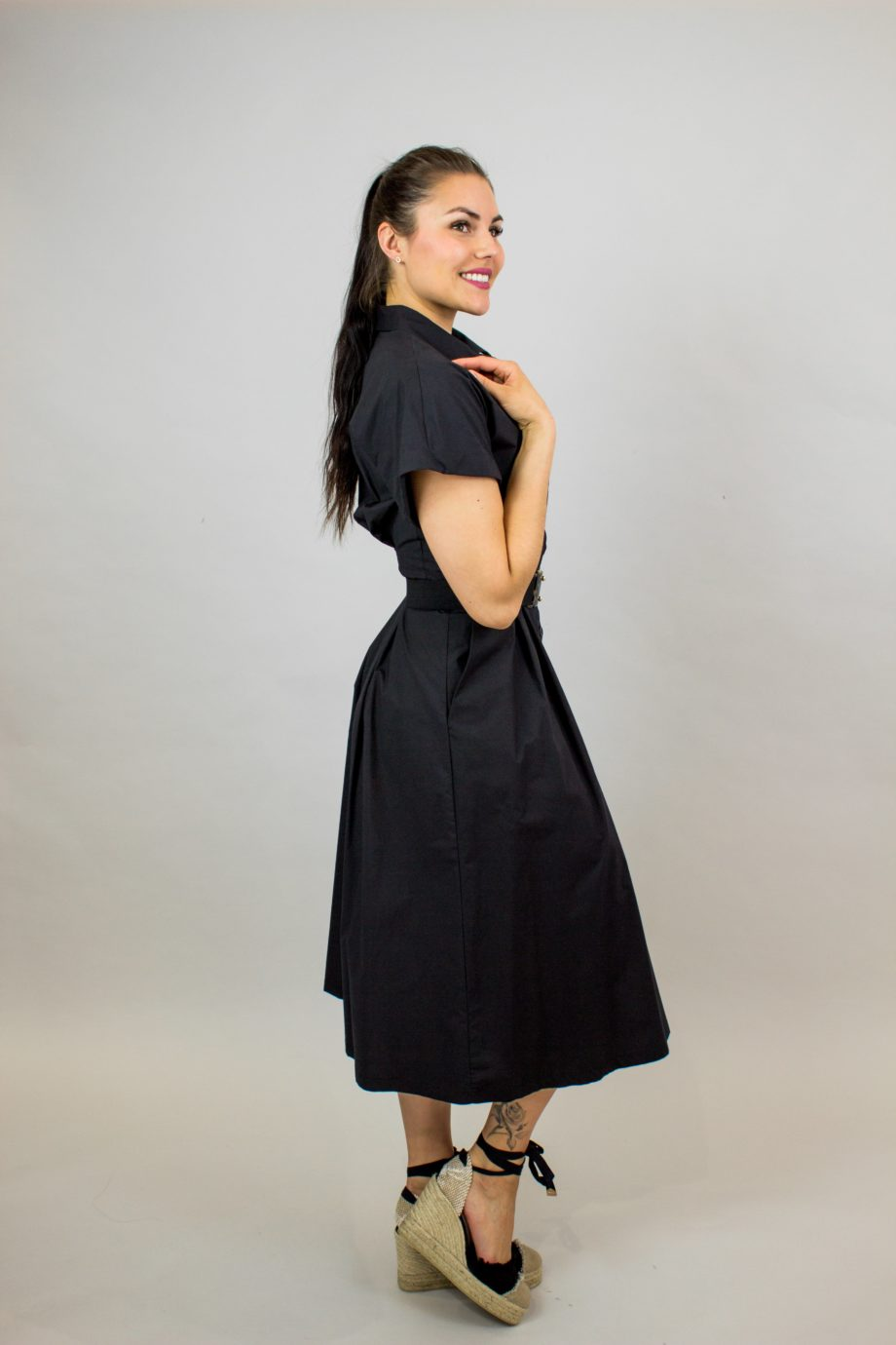 SEVENTY Black shirt dress