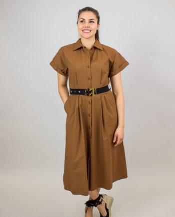 SEVENTY Camel shirt dress