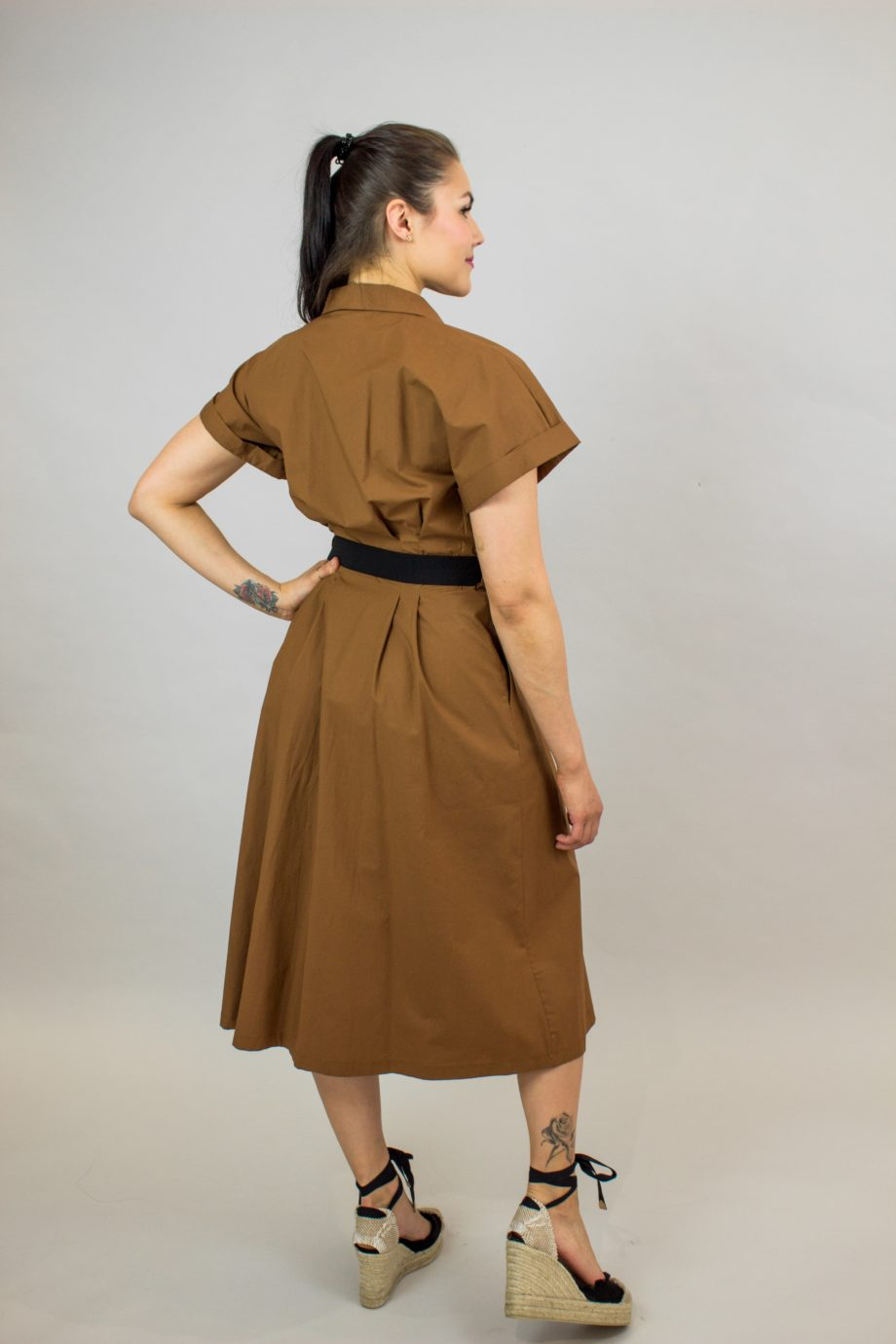 SEVENTY Camel shirt dress