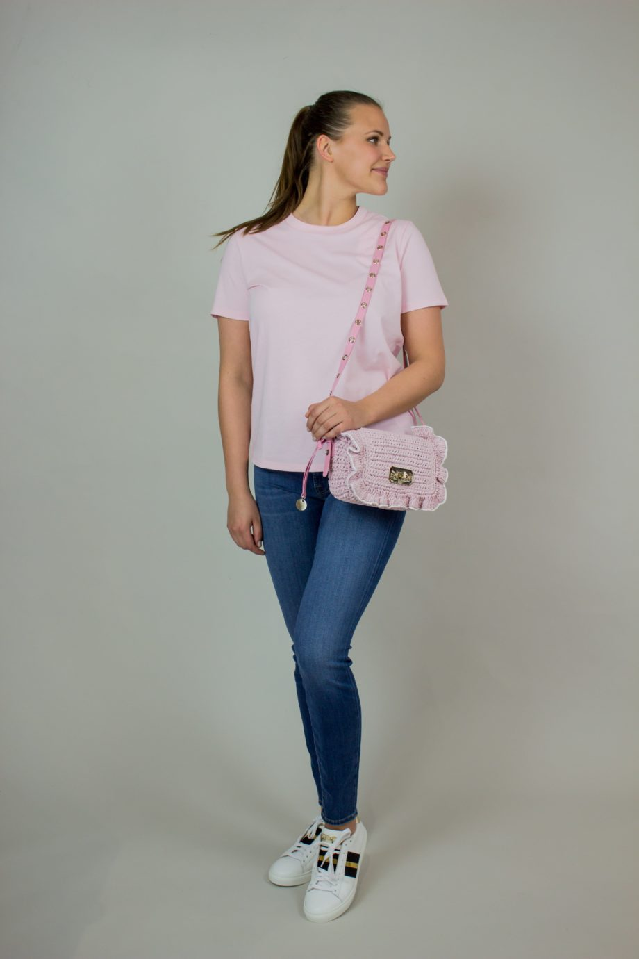 18. FRENCH CONNECTION Rose organic cotton T-shirt