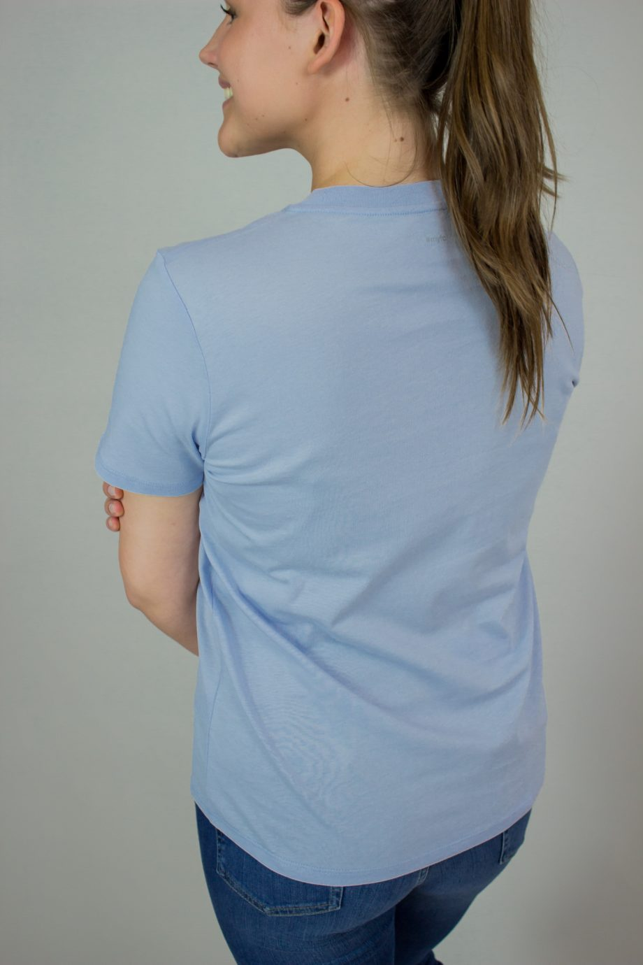 19. FRENCH CONNECTION Blue organic cotton T-shirt