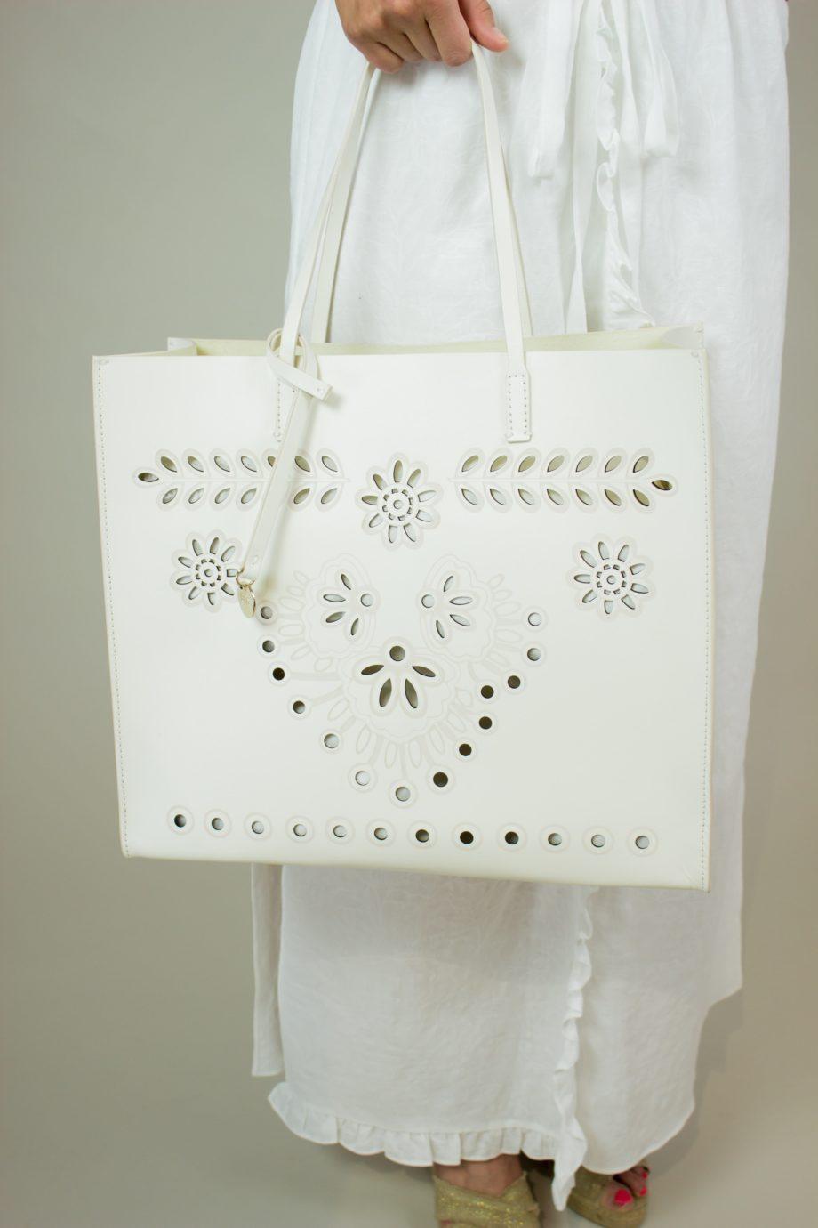 RED VALENTINO Tote bag (white)