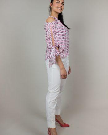 9. KRISTINA TI Pink silk blouse