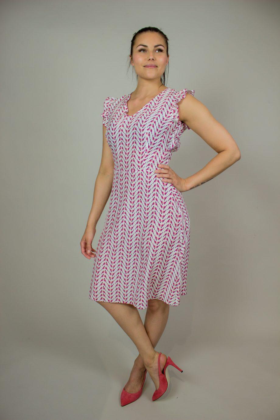 11. KRISTINA TI Pink silk dress
