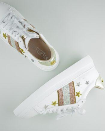 1. STOKTON Rose star sneakers