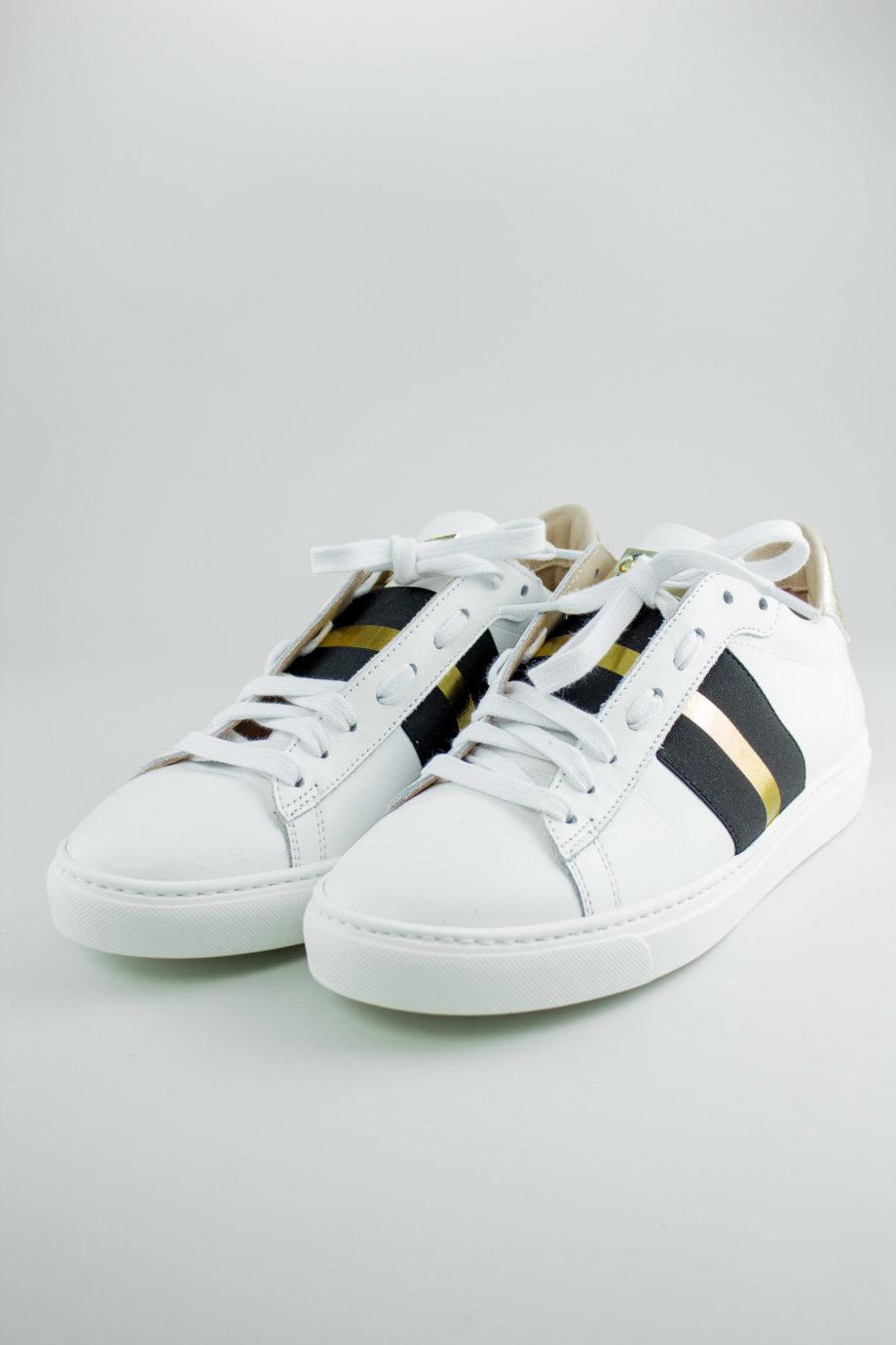 STOKTON Black stripe sneakers