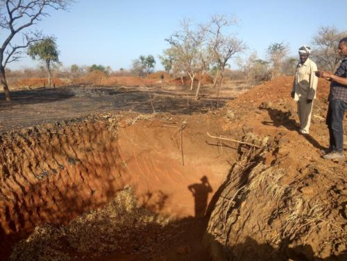 Picture 5. Fresh earth work - prospects for gold