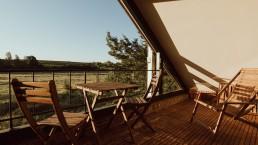 prachtig uitzicht over de natuur op het privé balkon terras