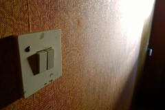Släckte lyset innan jag gick